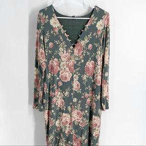 Bold Elements Floral Dress L